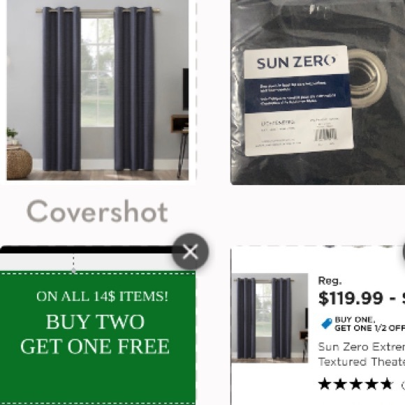 Sun Zero Curtains 🔛 Other - Sun zero curtains… Black with silver eyeholes